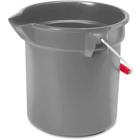 Rubbermaid Commercial, RCP296300GY, Brute 10-quart Utility Bucket, 1 Each, Gray,Nickel,Chrome - Mark 1 Bucket