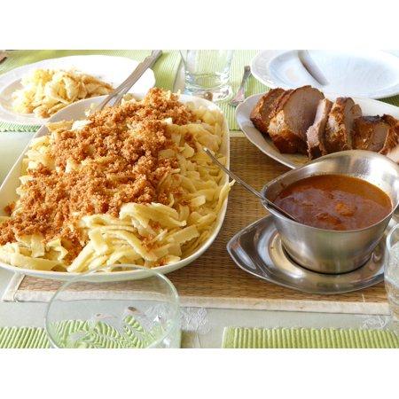 LAMINATED POSTER Swabian Court Sunday Roast Roast Pork Sauce Sp??tzle Poster Print 11 x (Best Sauce For Roast Pork)
