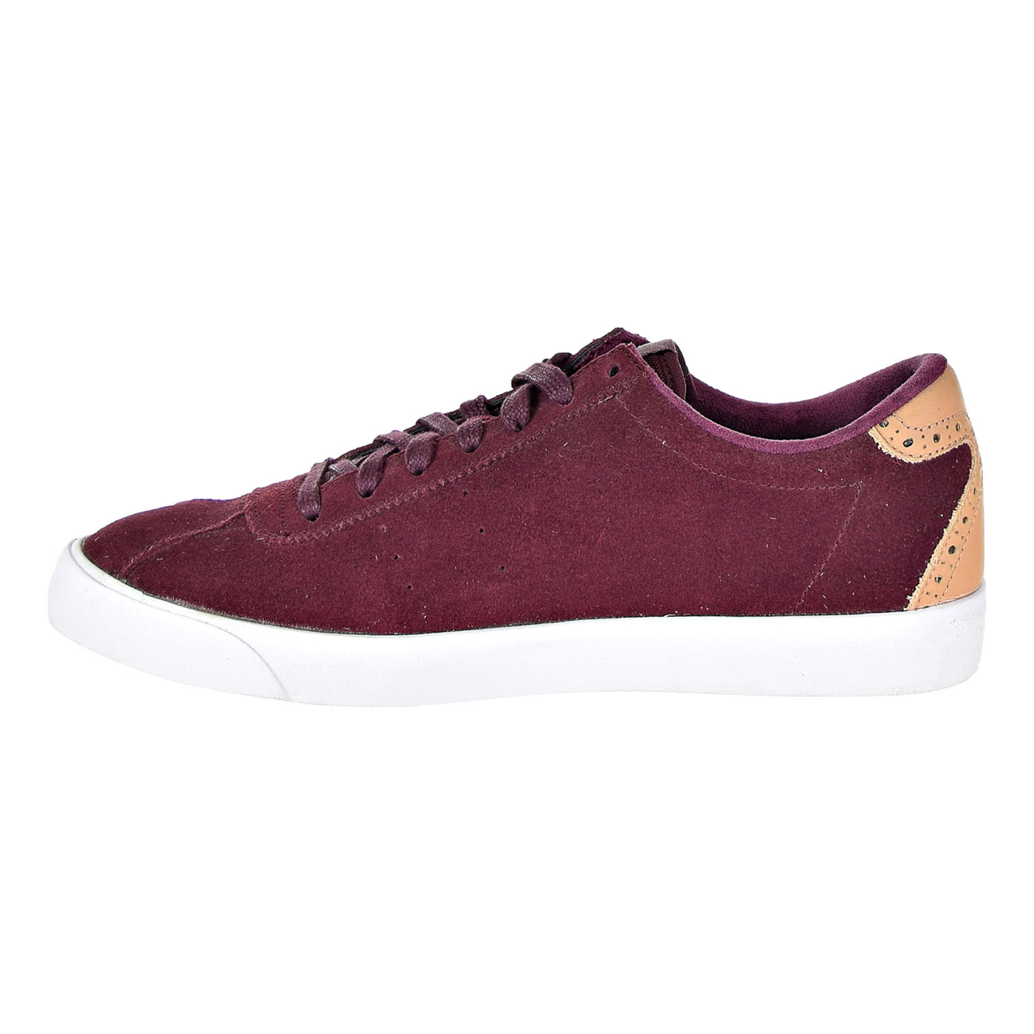 Mens Nike Match Classic Suede Night Maroon White Vachetta Tan 844611-6