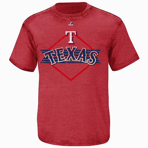 Texas Rangers Majestic All For Victory T-Shirt - Red
