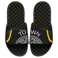 Golden State Warriors ISlide Statement Jersey Split Slide Sandals - Black