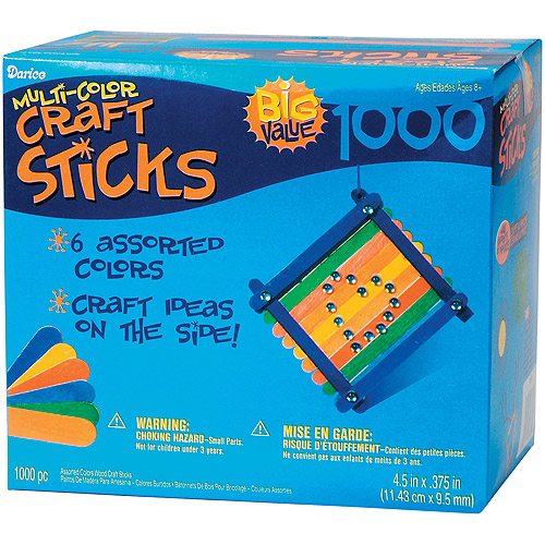 "Darice Wood Jumbo Craft Sticks, 4.5"", 1000-Pack"