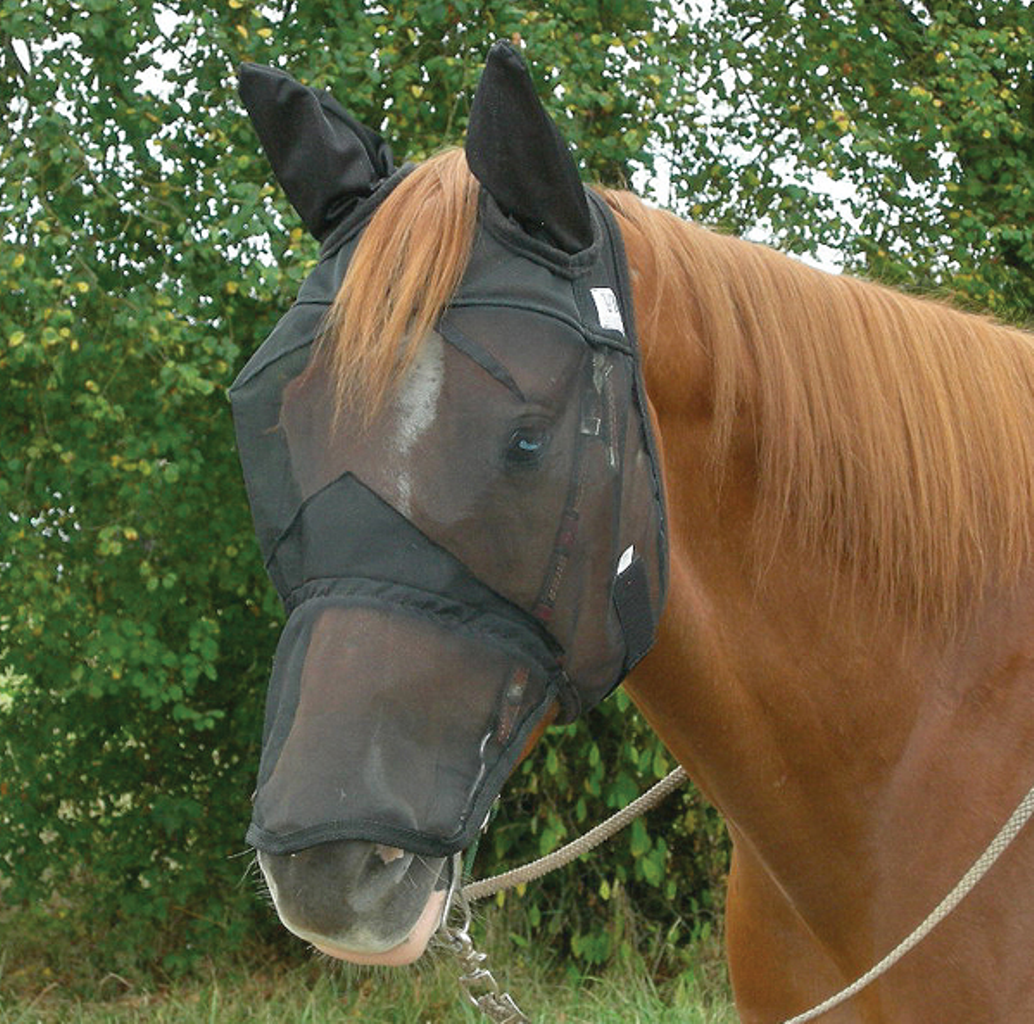 Cashel Quiet Ride Extended Nose Fly Mask with Ears, Size:...