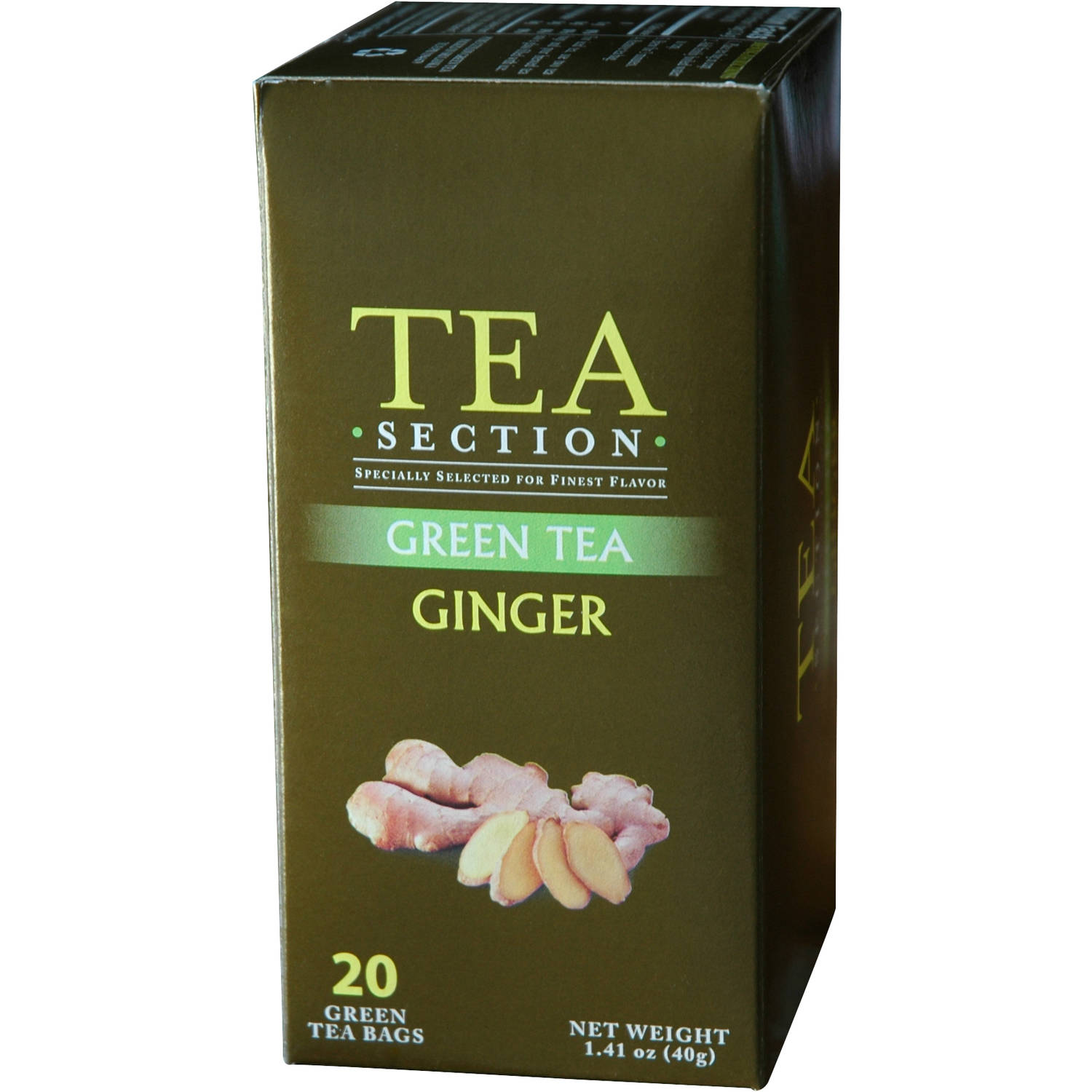 Tea Section Ginger Green Tea Bags, 20 count, 1.41 oz