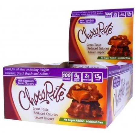 ChocoRite - High Protein Diet Bar | Milk Chocolate Pecan Clusters | Low Calorie, Low Fat, Sugar Free ( 16/Box ) ()