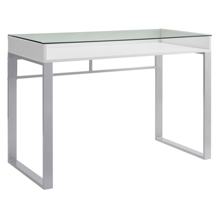 Walker Edison 42 in . Modern Glass Top Writing (Glass Modern Desk)