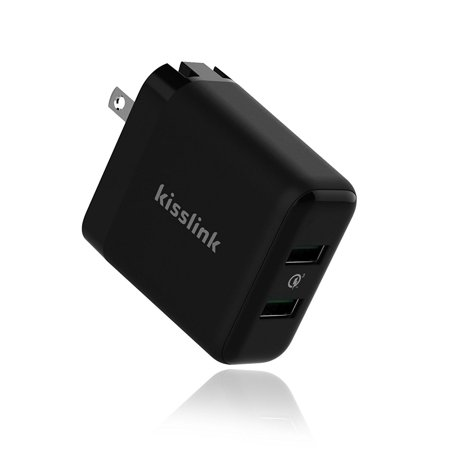 Kisslink Kw3220 Dual Usb Wall Charger With Qualcomm Quick Charge