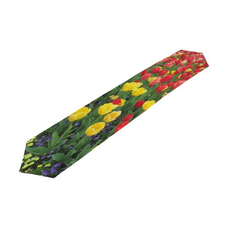 POPCreation Tulip Table Runner Table Top Decoration Home Decor 13x90 inches