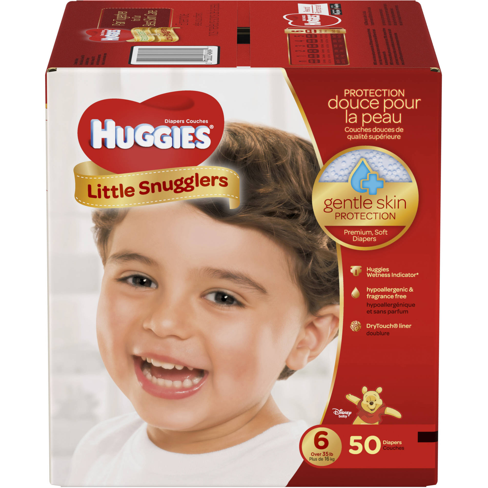 HUGGIES Little Snugglers Baby Diapers, Size 6, 50 count