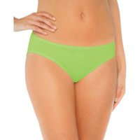 Womens Assorted Colors Tagless Cotton Bikini, 6-pack