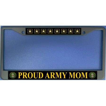 Proud Army Mom Photo License Plate Frame  Free Screw Caps with this Frame