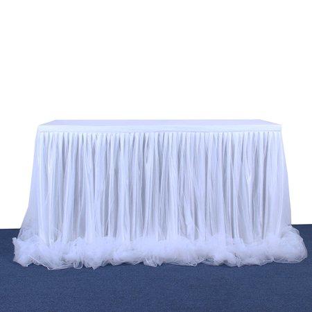 Mesh Gauze Table Skirt Tulle Table Yarn Skirt Wedding Celebration Supplies - image 1 of 9
