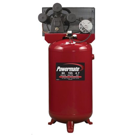 Powermate Pla4708065 4 7 Hp 80 Gallon Hi Flo Single Stage Cast Iron Air Compressor