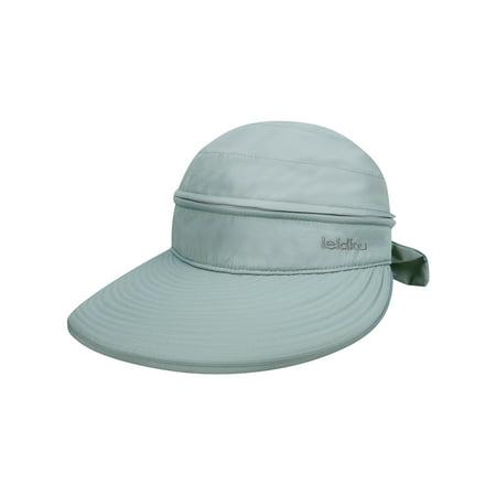 Women's UPF 50+ UV Sun Protective Convertible Beach Hat Visor Grey Coolibar Sun Protective Clothing