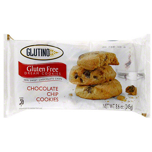 Glutino Chocolate Chip Cookies, 8.6 oz (Pack of 12)