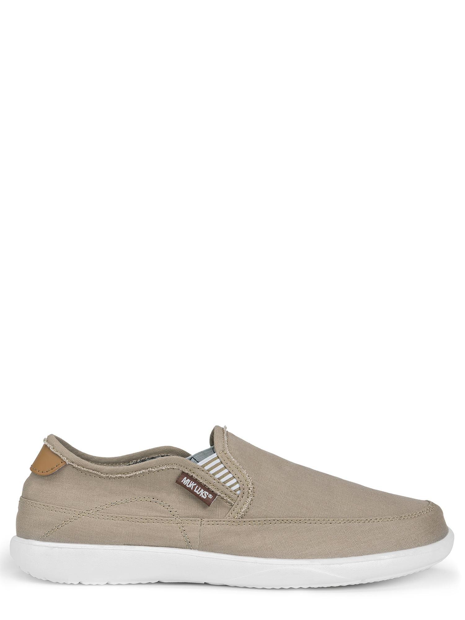 MUK LUKS® Men's Otto Canvas Slip-on Boat Shoes