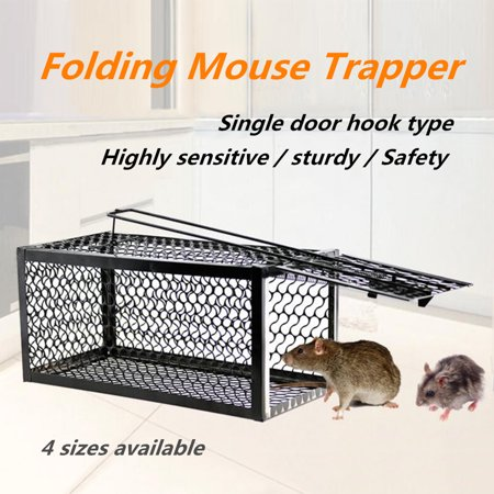 4 Size Mouse Live Trap Rodent Animal Humane Hamster Cage Household Mice Rat Control Catcher Bait - image 2 de 6
