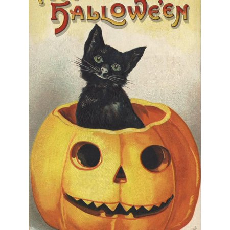 A Merry Halloween Print Wall Art By Ellen H. Clapsaddle - Ellen Clapsaddle Halloween Postcards
