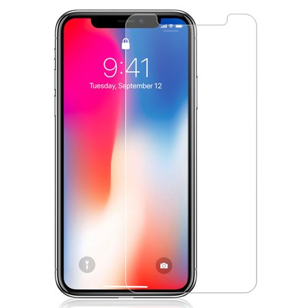 iPhone Xs Max Tempered Glass, Nakedcellphone 9H Hard Clear Screen Protector Guard [Crack Saver] for Apple iPhone Xs Max (Size 6.5