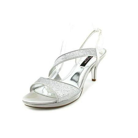 Womens Nina Newark Sparkle Slingback Dress Sandals, Silver