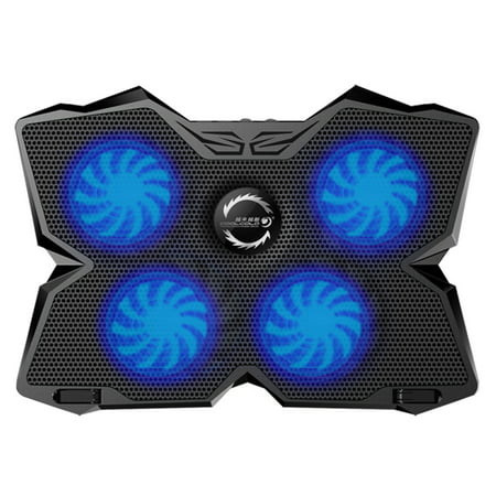COOL COLD USB Powered Slim Flat Notebook Laptop Cooler Cooling Pad Radiator Notebook Stand Holder with LED Four Fans for 17inch Laptop Gaming Daily Use (Notebook Cooler Use Usb)