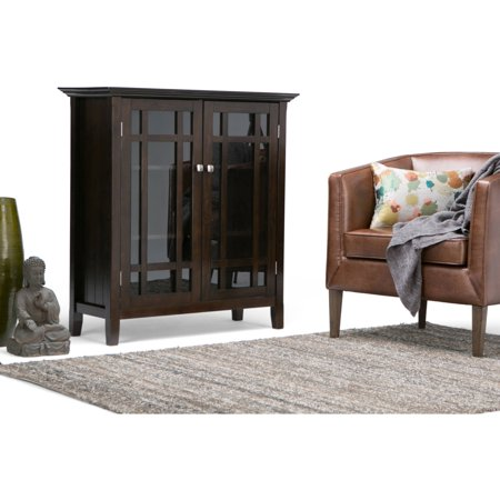 Brooklyn + Max Hampton Dark Tobacco Brown Medium Storage Media Cabinet and Buffet