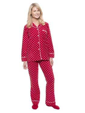 Product Image Women s Microfleece Pajama Sleepwear Set - Dots Diva  Red White - Small ed78e51a0