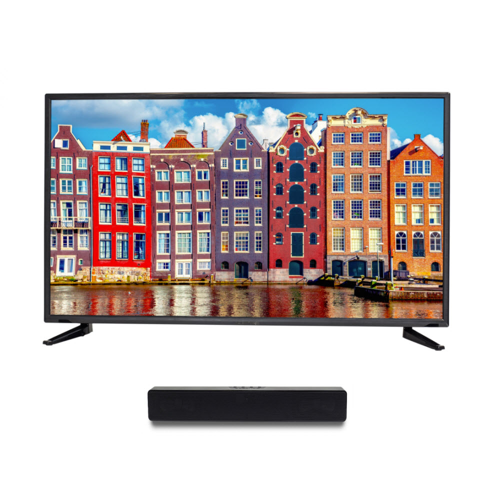 "Sceptre 50"" Class FHD (1080P) LED TV (X505BV-FSR) and Soundbar Bundle"