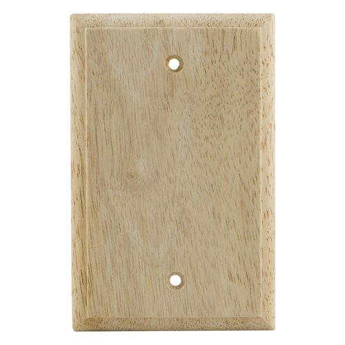 GE Unfinished Wood Single Blank Wall Plate
