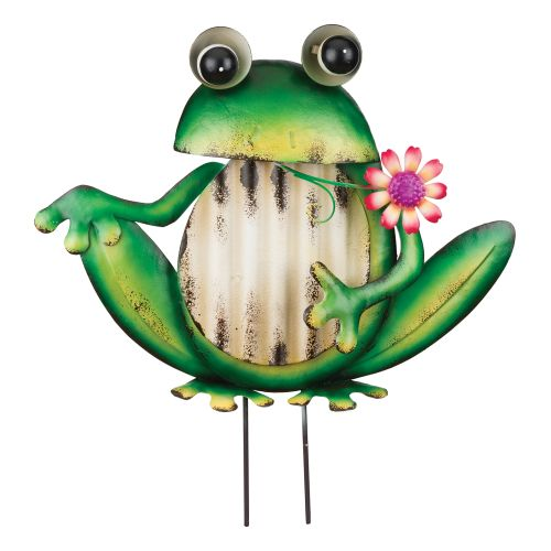 Regal Art  and  Gift 12112 - Green Frog Groovy Garden Stake Decor