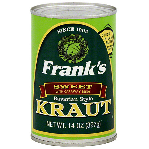 Frank's Sweet Bavarian Style Kraut With Caraway Seeds, 14 oz (Pack of 24)