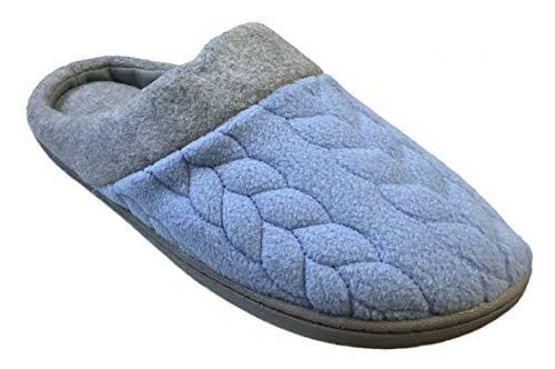 Quilted Fleece Clog Memory Foam Slipper
