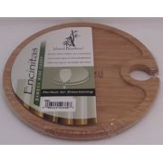 8 inch Round Wine Caddy Island Bamboo 1 Board