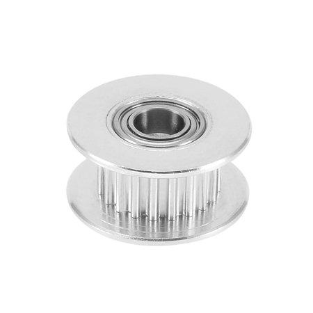 Aluminum Idler Pulley GT2 20T for 6mm Wide Timing Belt 5mm Bore for 3D Printer