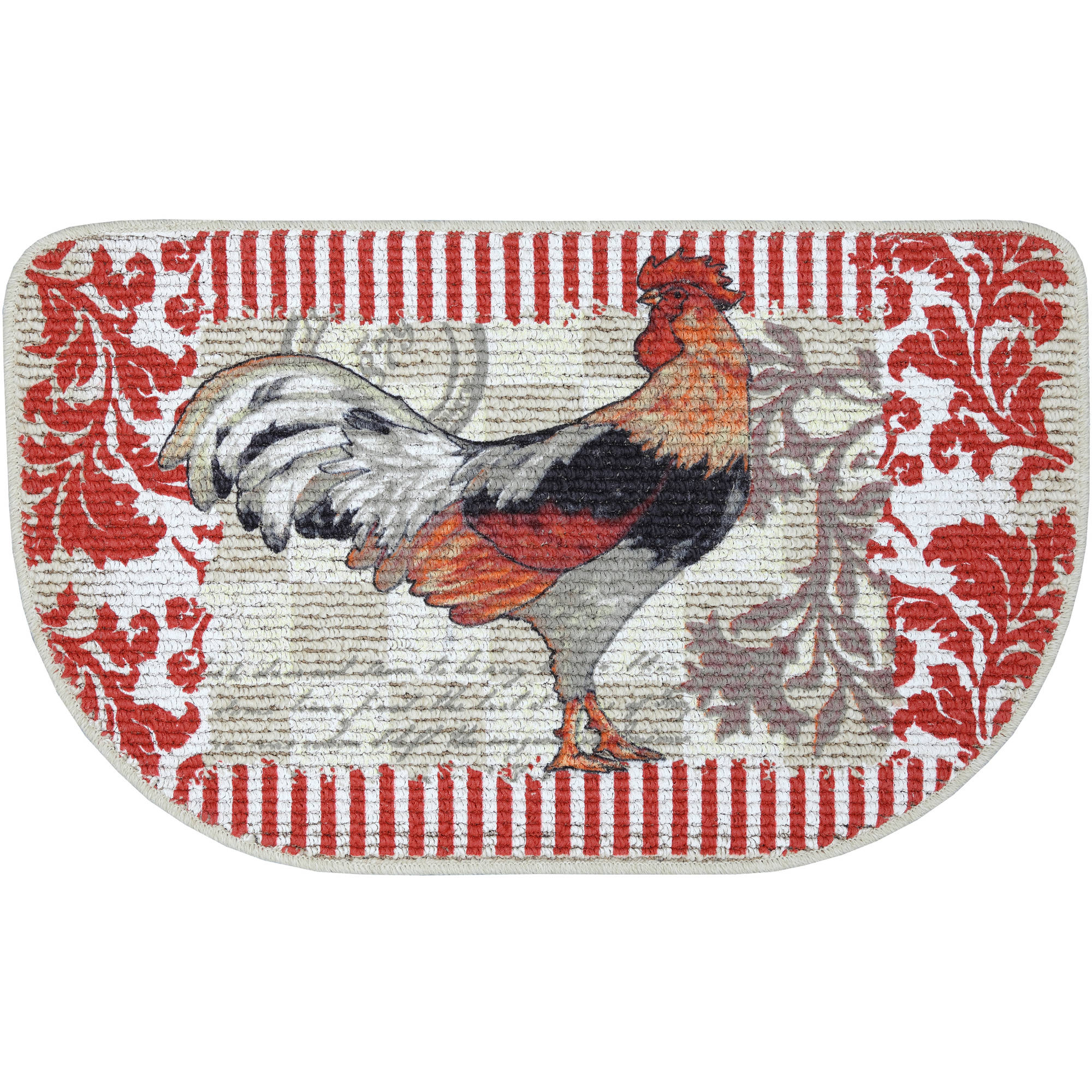 mainstays rooster printed slice kitchen mat - walmart