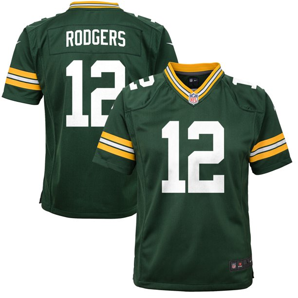 aaron rodgers youth jersey