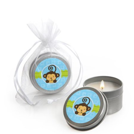 Monkey Boy - Candle Tin Party Favors (Set of 12) (Elephant Candle Favors)