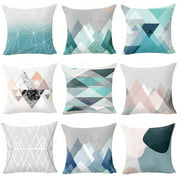 Aofa Geometric Pattern Zippered Pillow Case Soft Waist Cushion Cover Sofa Home Decor