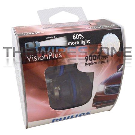 Philips Vision Plus 9004 65/45W +60% More Light Halogen Car Headlight Bulb pair ()