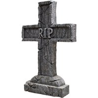 "24"" x 16"" x 3"" Rest in Peace Cross Tombstone"