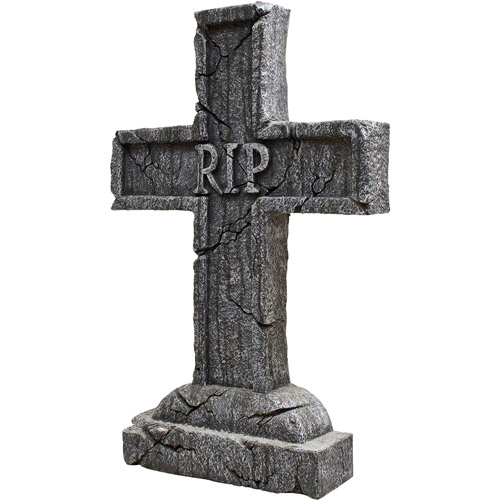 "24"" x 16"" x 3"" Rest in Peace Cross Tombstone"