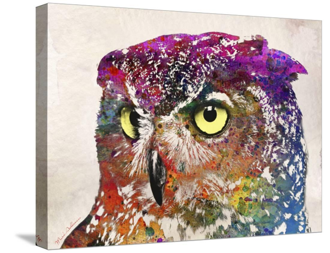"""42/"""" x 24/"""" LARGE WALL POSTER PRINT NEW. Fire Owl"""