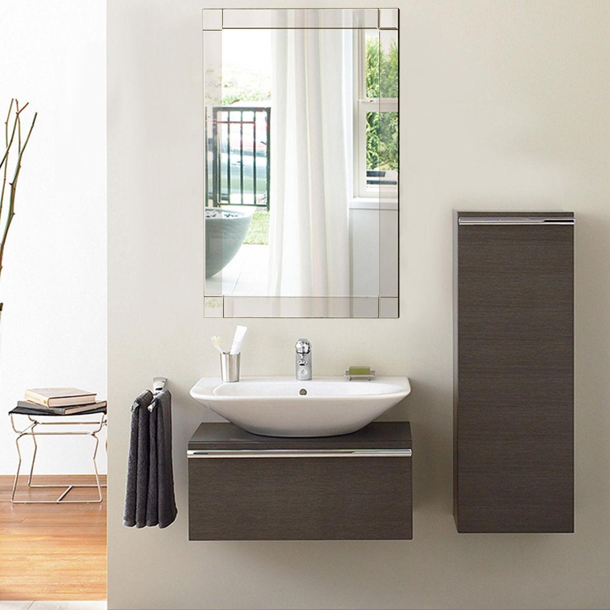 36'' Wall Mirror Rectangle Vanity Makeup Mirror Decor MDF Frame Bathroom Home - image 2 of 8