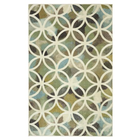 Mohawk Home Aurora Random Symmetry Light Green Area Rug