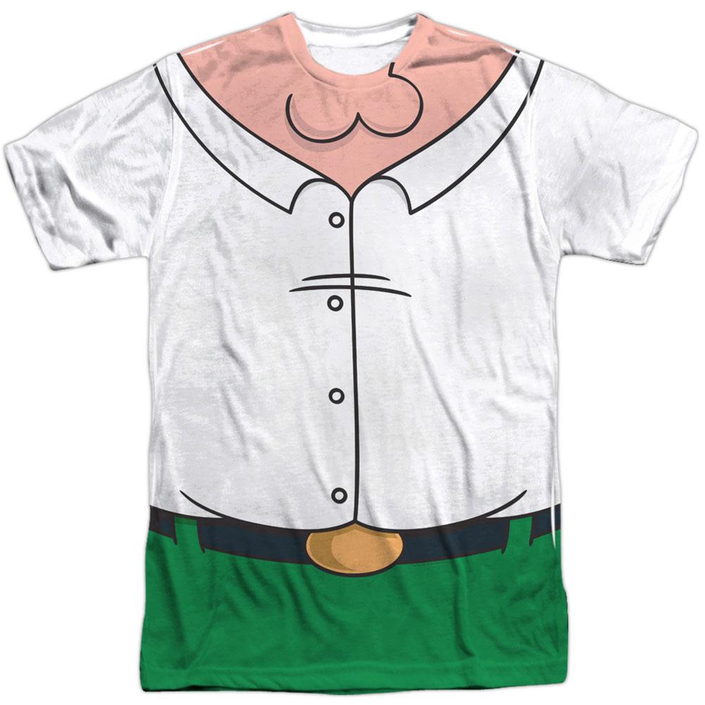 Family Guy Men's  Peter Costume Sublimation T-shirt White