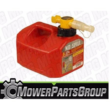 (1) No-Spill 1415 Gas Can 1.25 gallon - 6 liters - EPA Approved