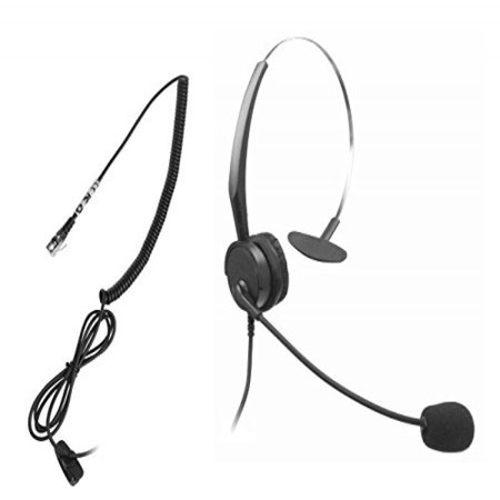 US Telephone RJ9 RJ10 RJ11 Headset for Polycom 300 301 335 500 501 550 600 650 Nortel M7208 M7310 M7324