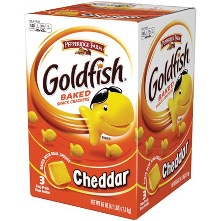 Pepperidge Farm Goldfish Cheddar Crackers, 66 oz. Multi-pack Box, 3-count 22 oz. Bags - Personalized Goldfish