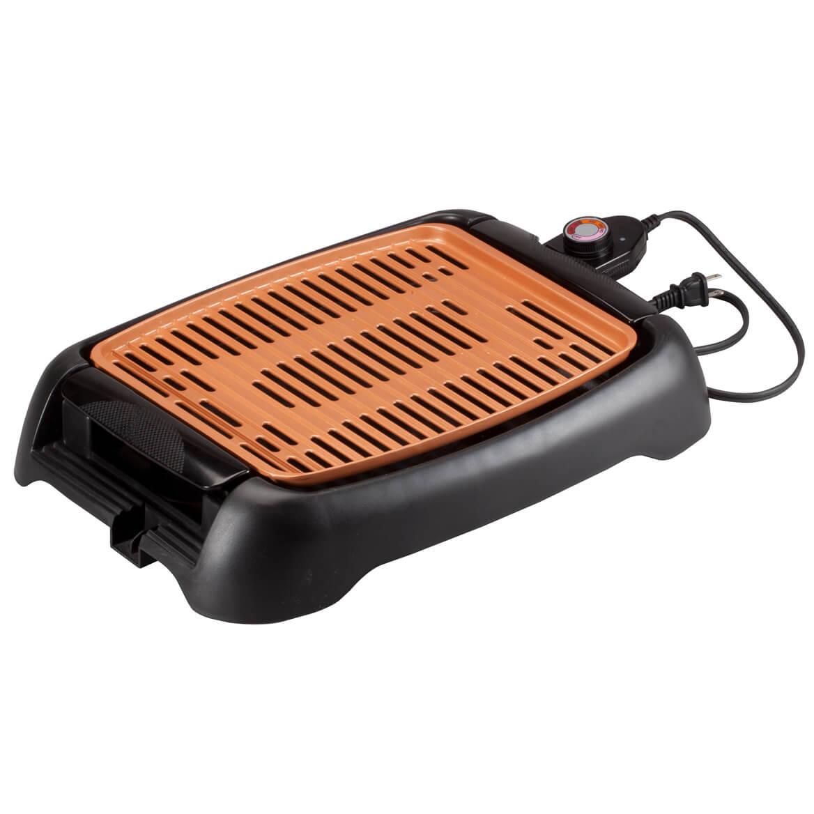 """NonStick Ceramic Copper 13"""" Countertop Electric Grill by HMP by Miles Kimball"""