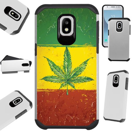Silver Guard Phone Case Cover For Samsung Galaxy J7V (2018) | J7 Aero | J7 Top | J7 Star (Weed Nation (Best Way To Stash Weed)